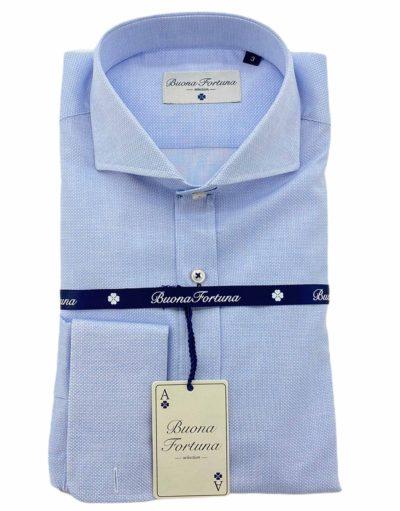 camisas buona fortuna comprar online camisas italianas exlusivas microestampada azul shop detalle