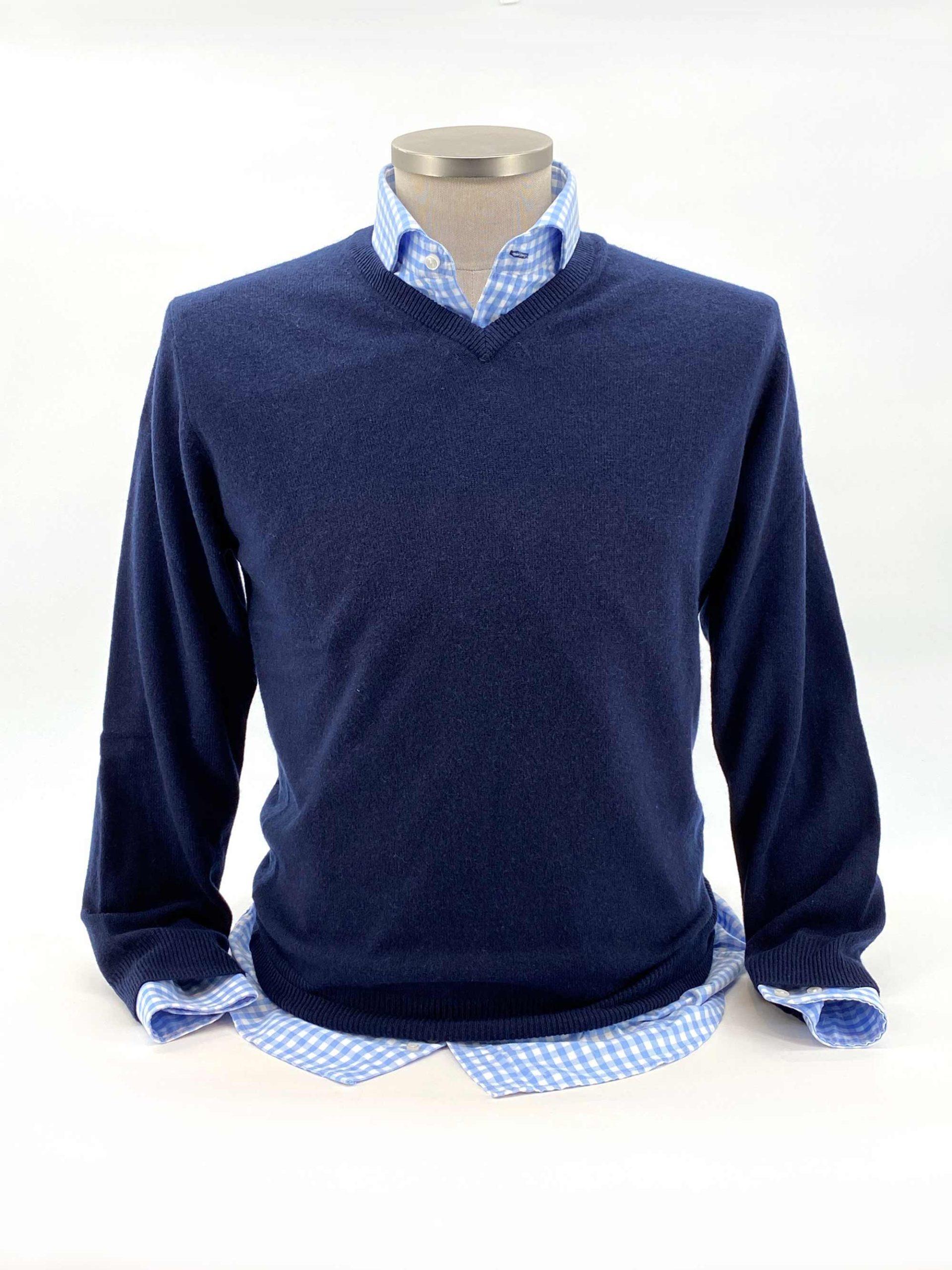 camisas buona fortuna comprar online camisas italianas exlusivas twill cuadros azules corbata marron y jersey azul