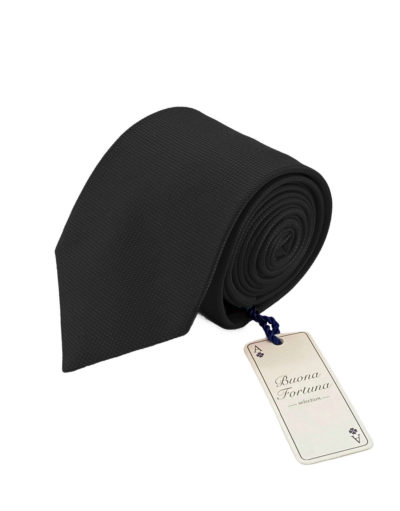 corbata tejida jacquard buona fortuna comprar online corbatas italianas exclusivas shop lisa negra