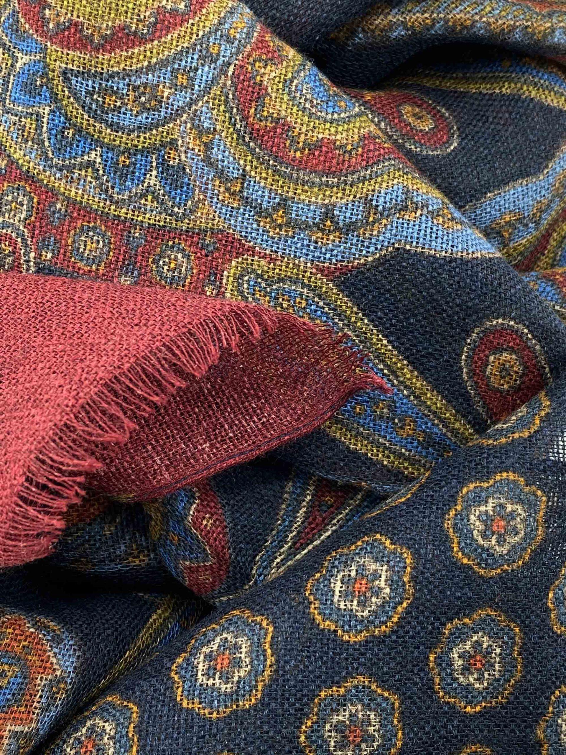 pashmina buona fortuna exclusivas comprar online moda italiana foulards shop burdeos azul