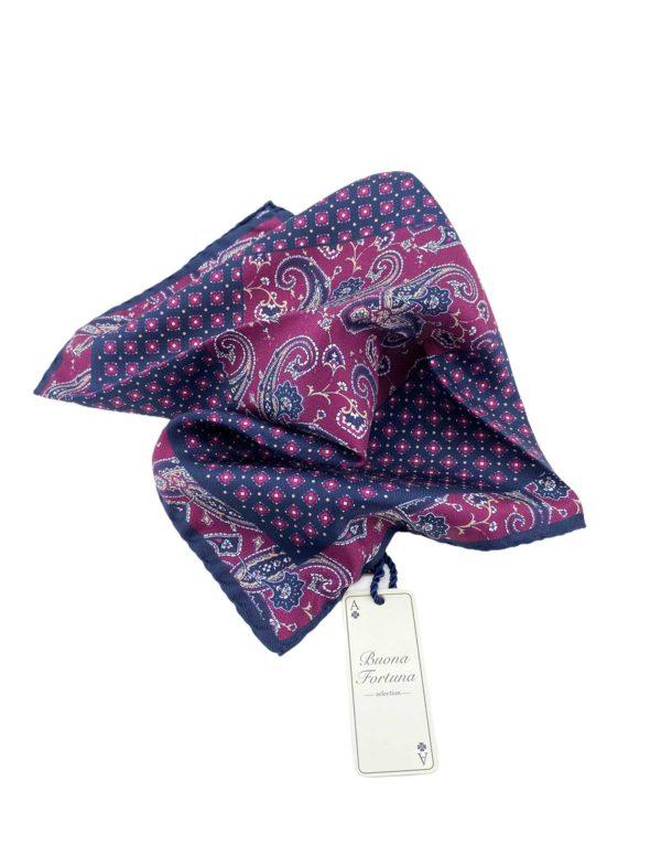 pochettes seda buona fortuna panuelos exclusivos comprar online moda italiana panuelo estampado burdeos azul marino shop