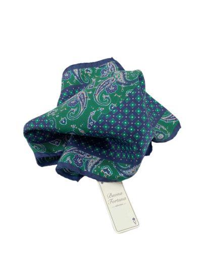 pochettes seda buona fortuna panuelos exclusivos comprar online moda italiana panuelo estampado verde azul marino shop