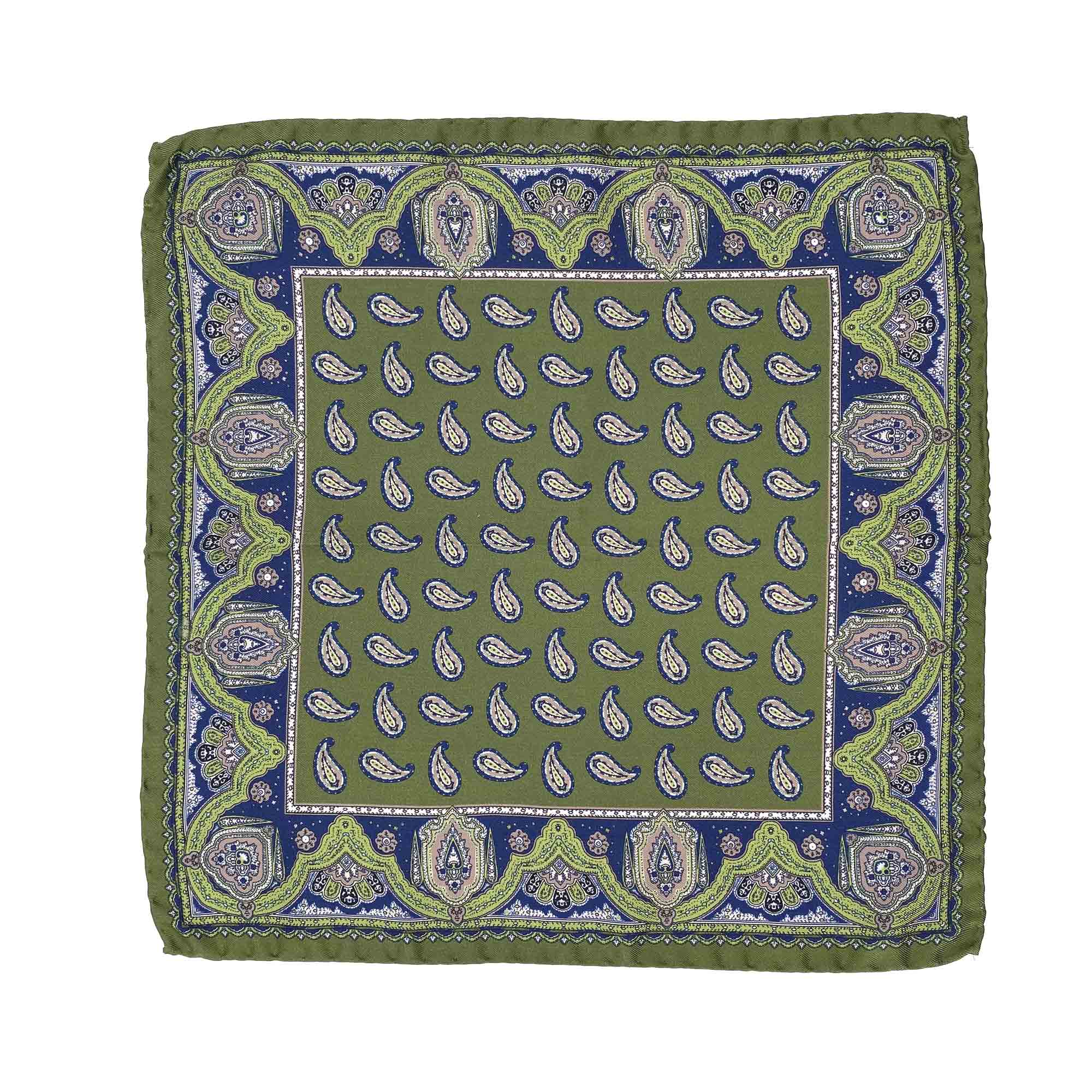 pochettes seda buona fortuna panuelos exclusivos comprar online moda italiana panuelo estampado verde azul shop
