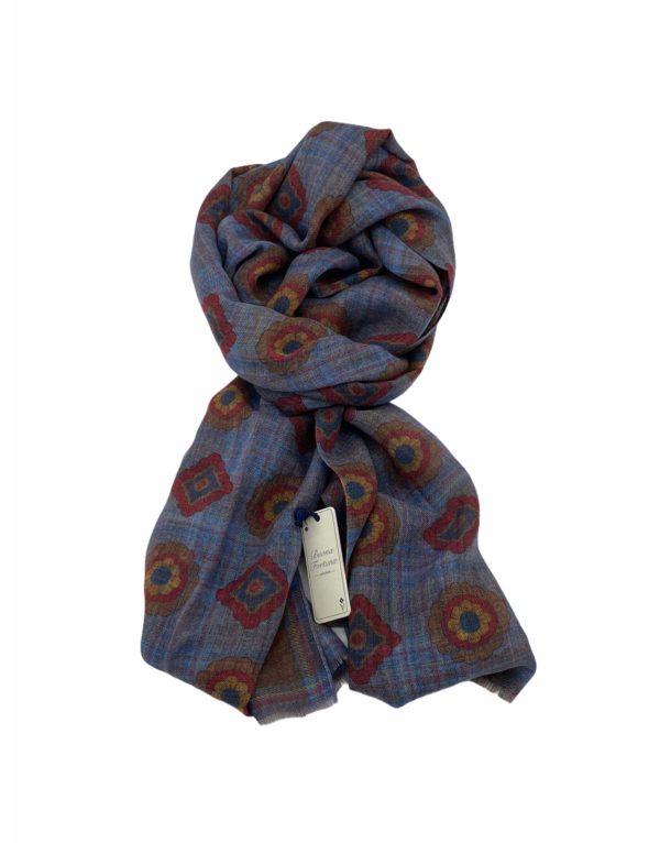 pashmina buona fortuna exclusivas comprar online moda italiana foulards shop cuadrados azules marrones