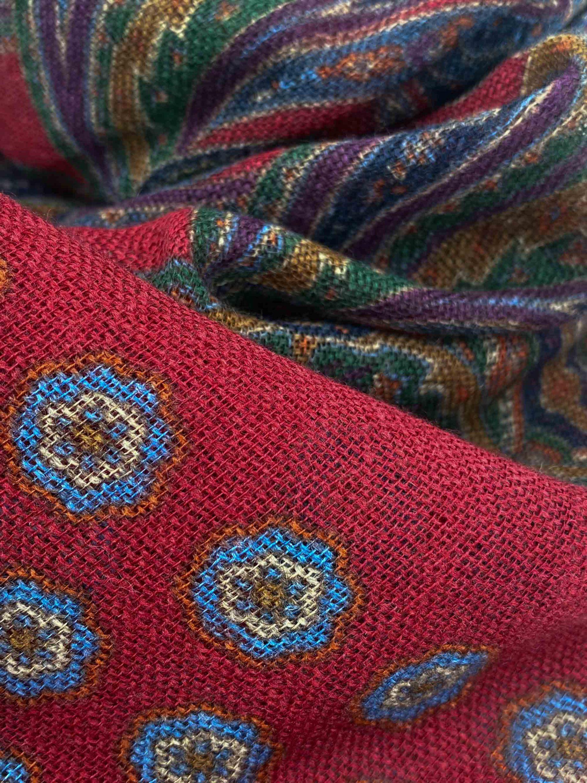 pashmina buona fortuna exclusivas comprar online moda italiana foulards shop flores granates y verdes