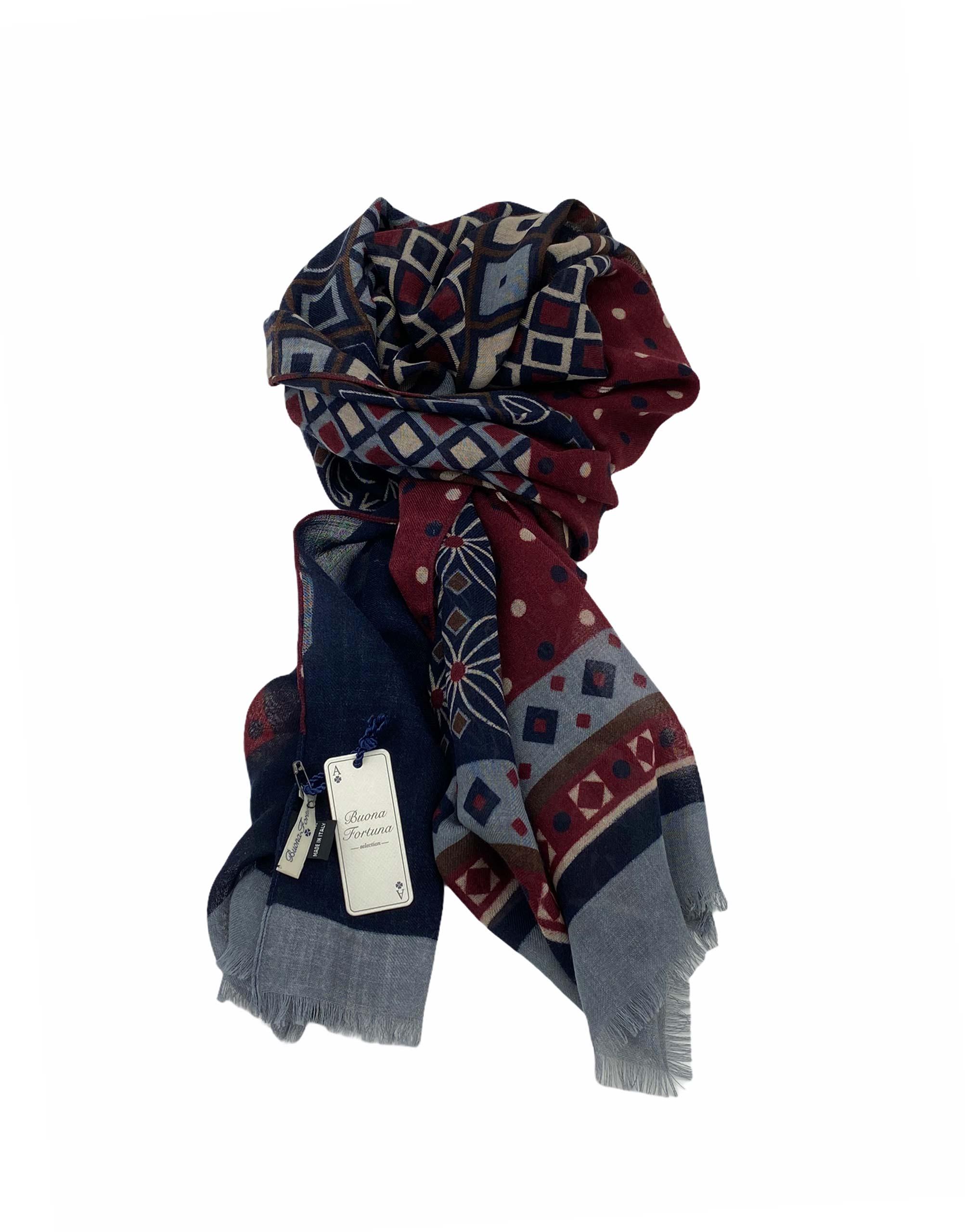 pashmina buona fortuna exclusivas comprar online moda italiana foulards shop geometrica granate beiges