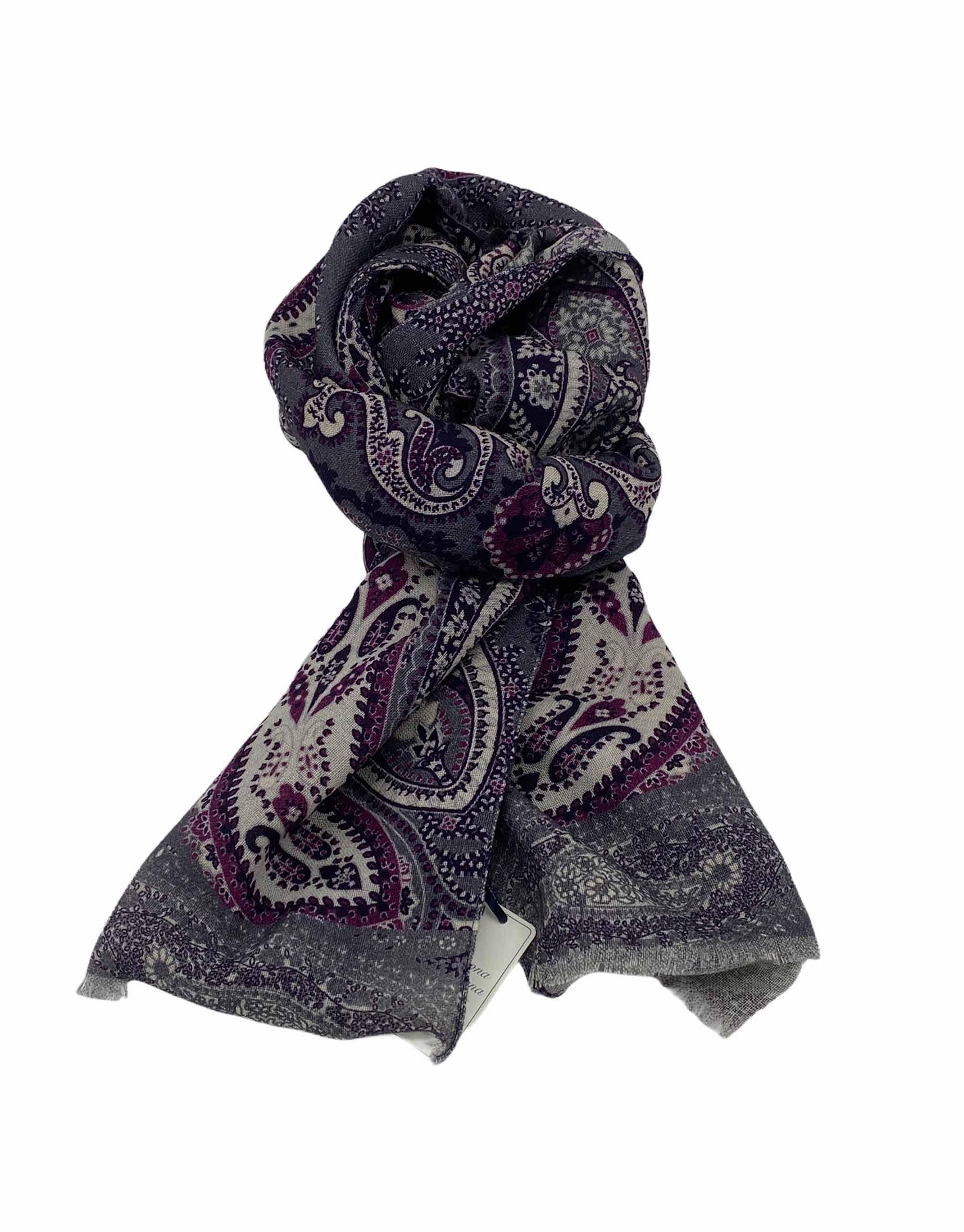 pashmina buona fortuna exclusivas comprar online moda italiana foulards shop gris purpura