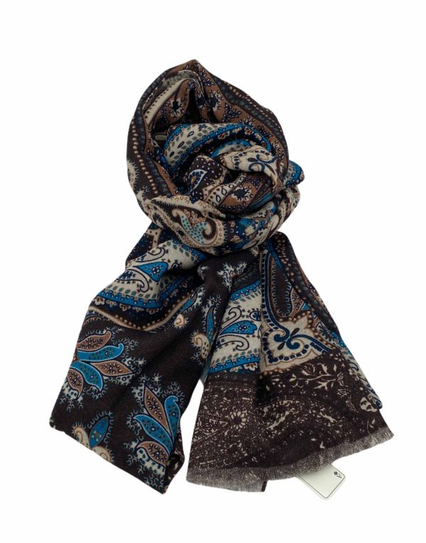 pashmina buona fortuna exclusivas comprar online moda italiana foulards shop marron crudo turquesa