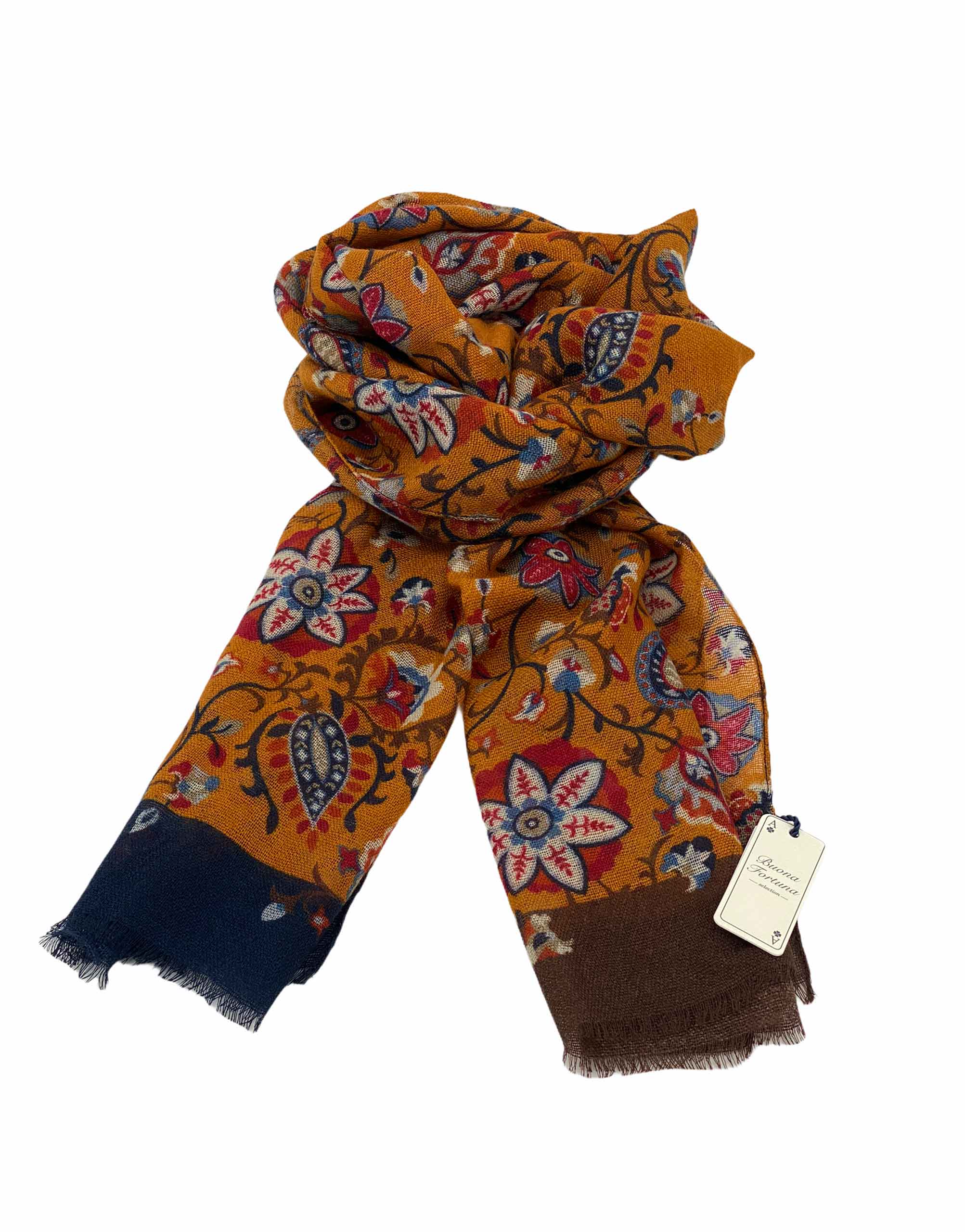 pashmina buona fortuna exclusivas comprar online moda italiana foulards shop naranja marino cashmere ocres