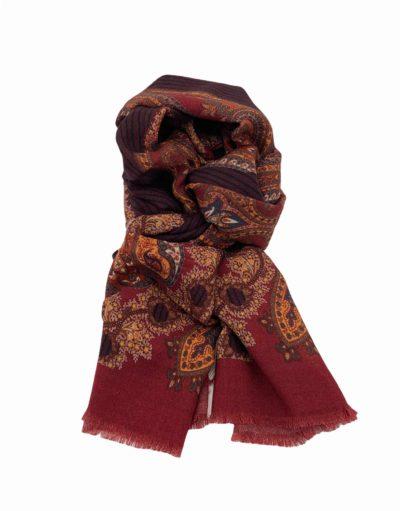 pashmina buona fortuna exclusivas comprar online moda italiana foulards shop rayas granates tejas