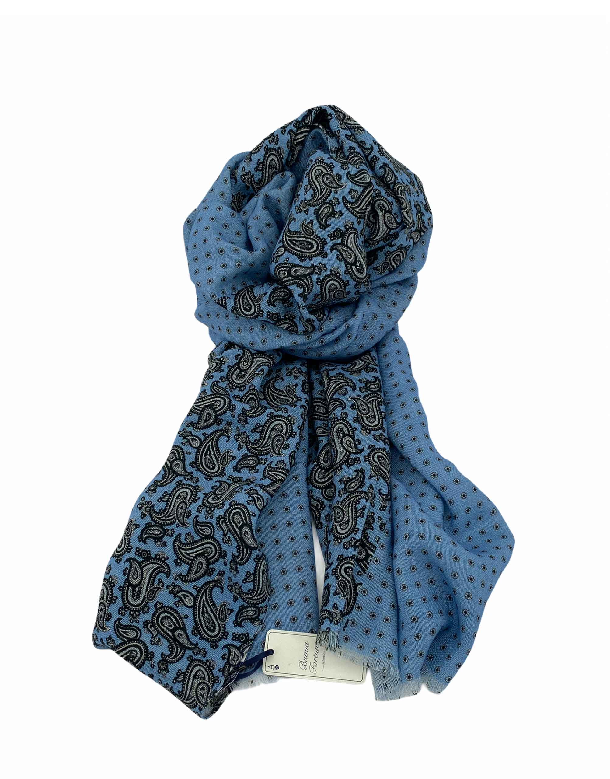 pashmina buona fortuna exclusivas comprar online moda italiana foulards shop topos marinos gris