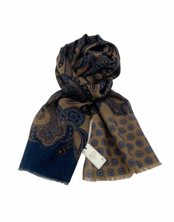 pashmina buona fortuna exclusivas comprar online moda italiana foulards shop tostados flores azules