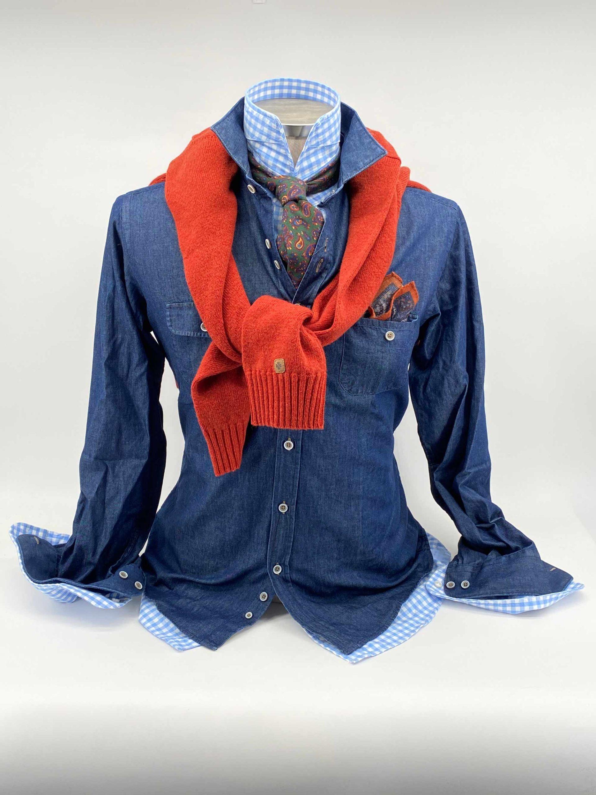 combinacion de otono camisas corbatas jerseis pashminas pochettes zapatos exclusivos buona fortuna comprar online moda italiana y made in spain