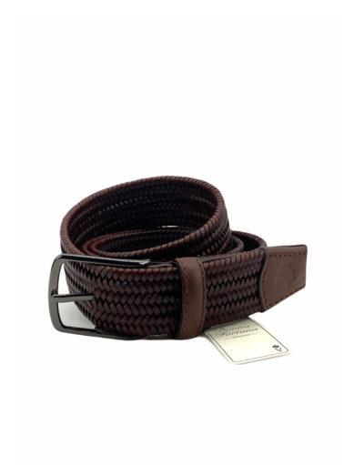 cinturon piel trenzada buona fortuna comprar online cinturones exclusivos shop marron