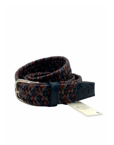cinturon piel trenzada buona fortuna comprar online cinturones exclusivos shop marron y marino