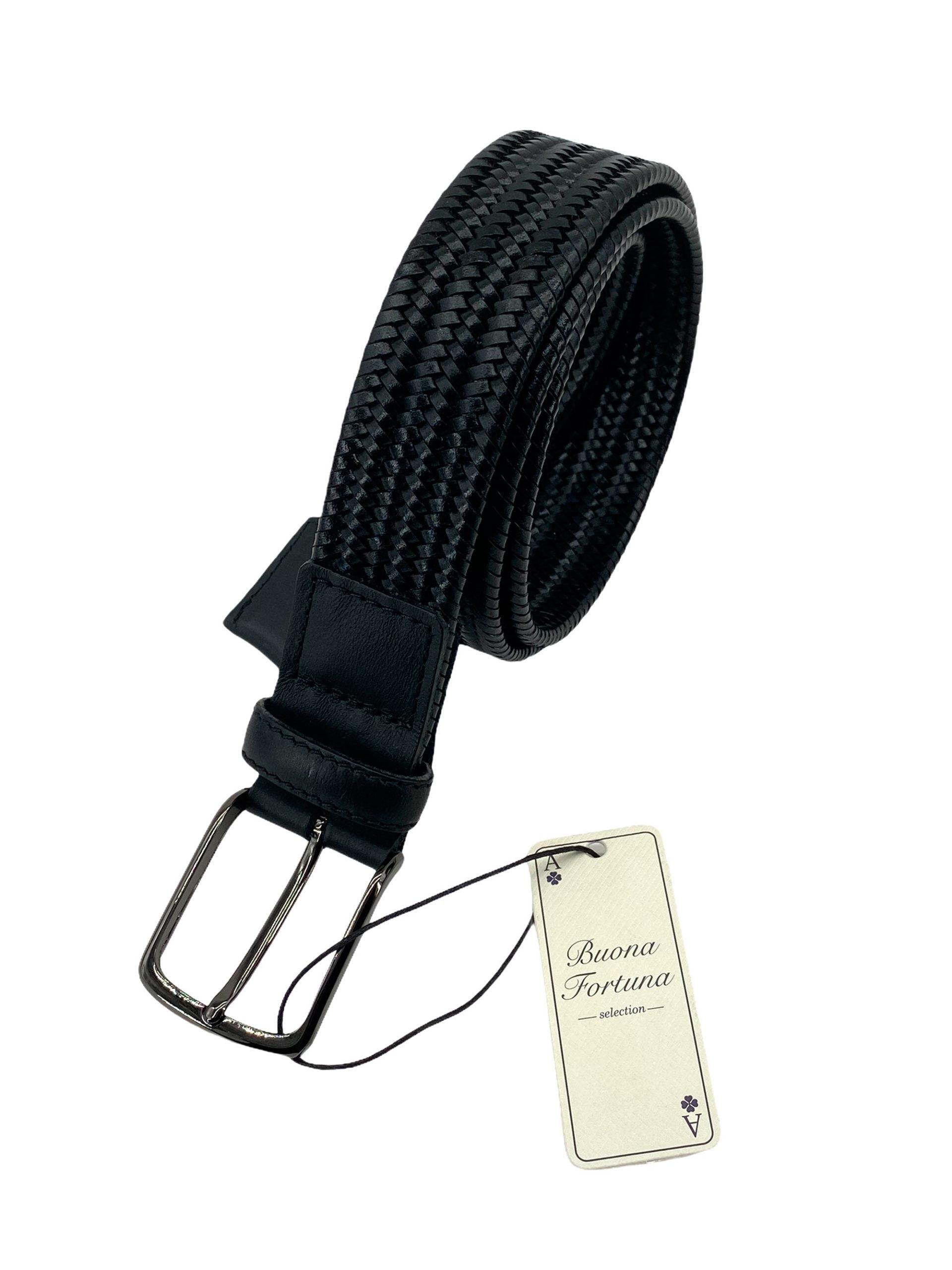 cinturon piel trenzada buona fortuna comprar online cinturones exclusivos shop negro