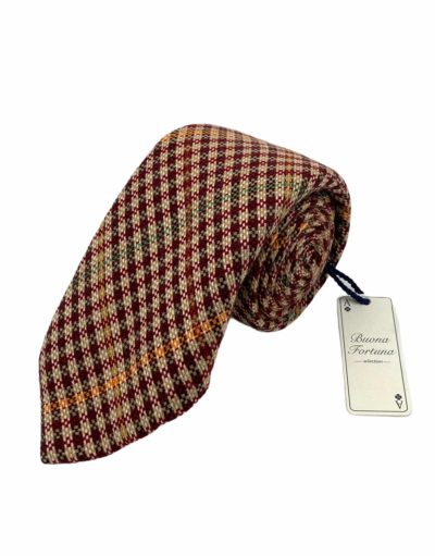 corbata lana siete pliegues buona fortuna comprar online corbatas italianas exclusivas shop cuadro harrys marron cereza crema