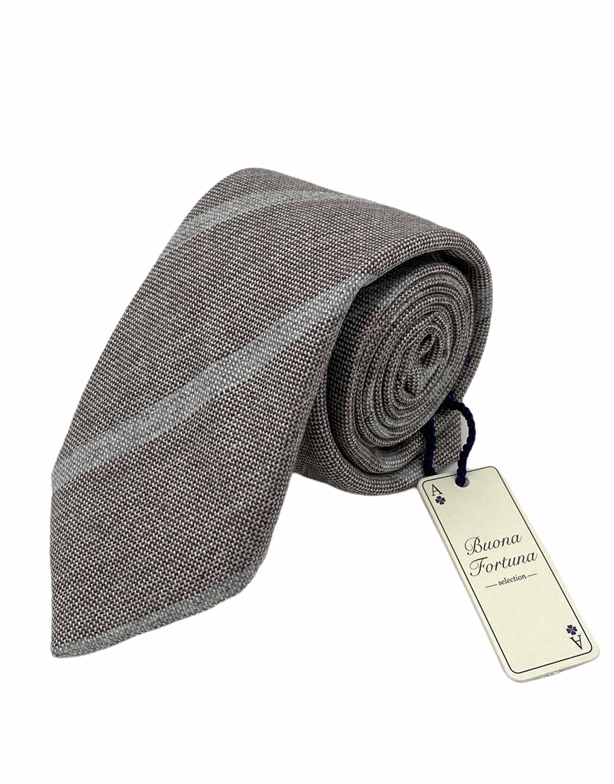 corbata lana siete pliegues buona fortuna comprar online corbatas italianas exclusivas shop cuadro raya gris