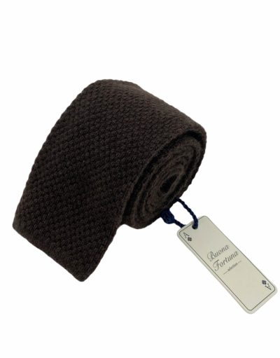 corbata punto cashmere buona fortuna comprar online corbatas italianas exclusivas shop marron oscuro
