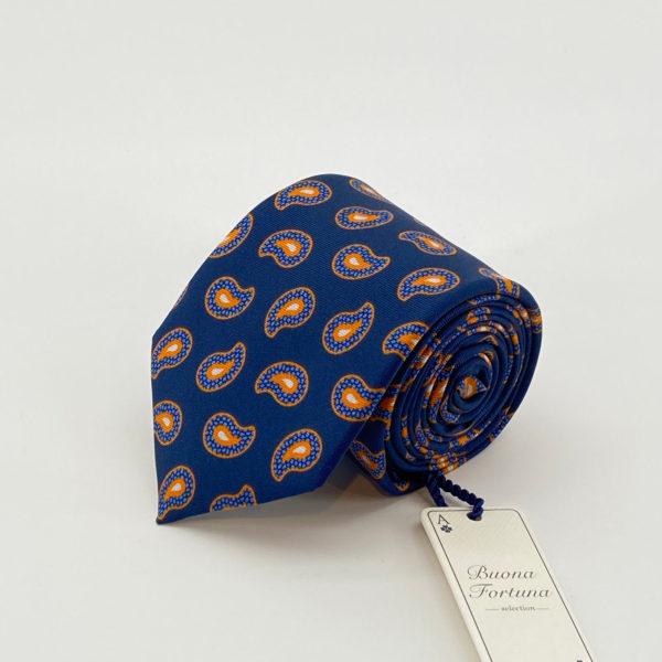 corbata tejida twill buona fortuna comprar online corbatas italianas exclusivas shop estampada cashmere naranja azul
