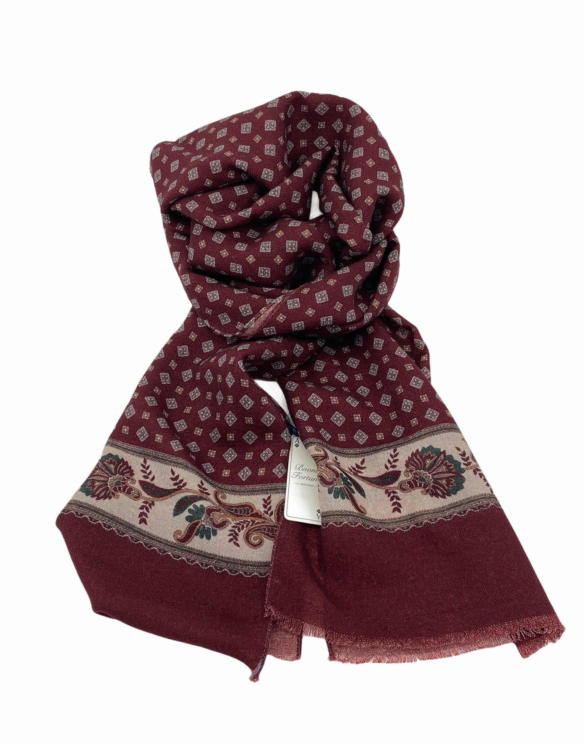 pashmina buona fortuna exclusivas comprar online moda italiana foulards shop cenefa flores granate