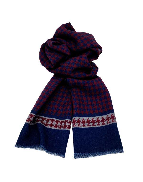 pashmina buona fortuna exclusivas comprar online moda italiana foulards shop fondo pata de gallo marino granate