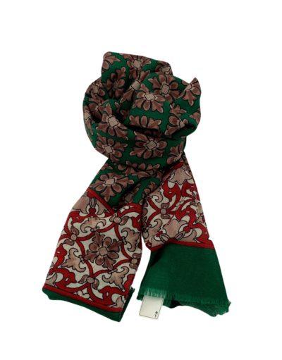 pashmina buona fortuna exclusivas comprar online moda italiana foulards shop fondo verde flores romanas tostadas