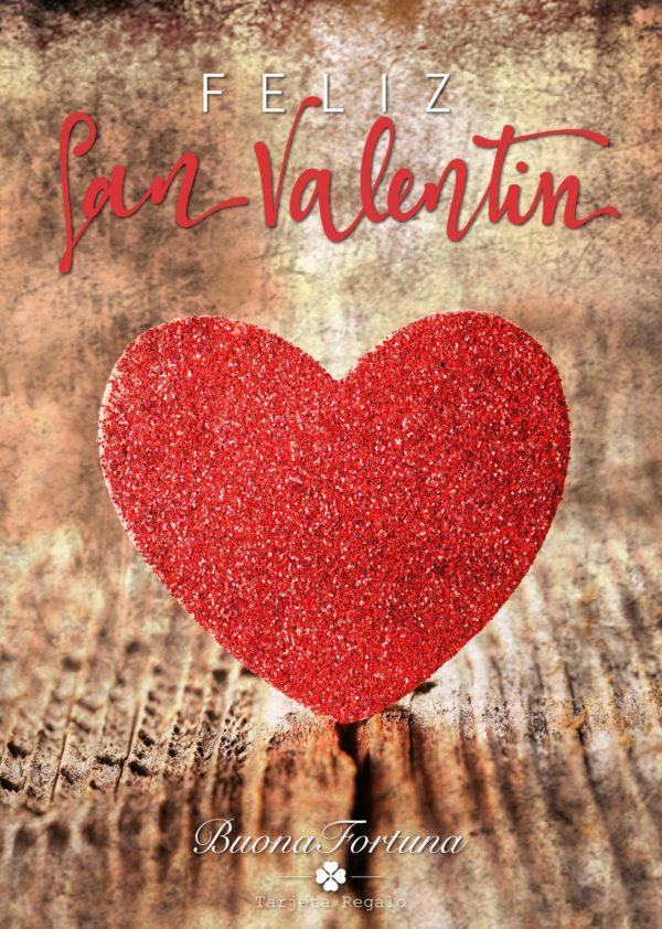 tarjeta regalo feliz día de San Valentín buona fortuna