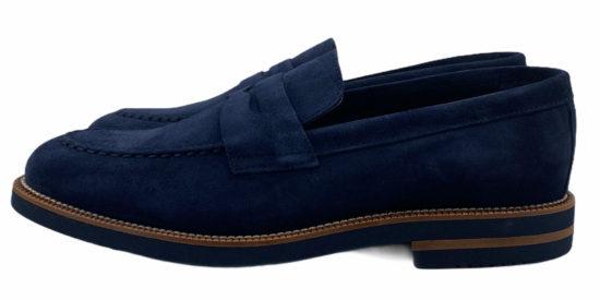 zapatos buona fortuna selection piel serraje exclusivos made in spain color marino