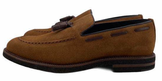 zapatos buona fortuna selection piel serraje exclusivos made in spain color camel