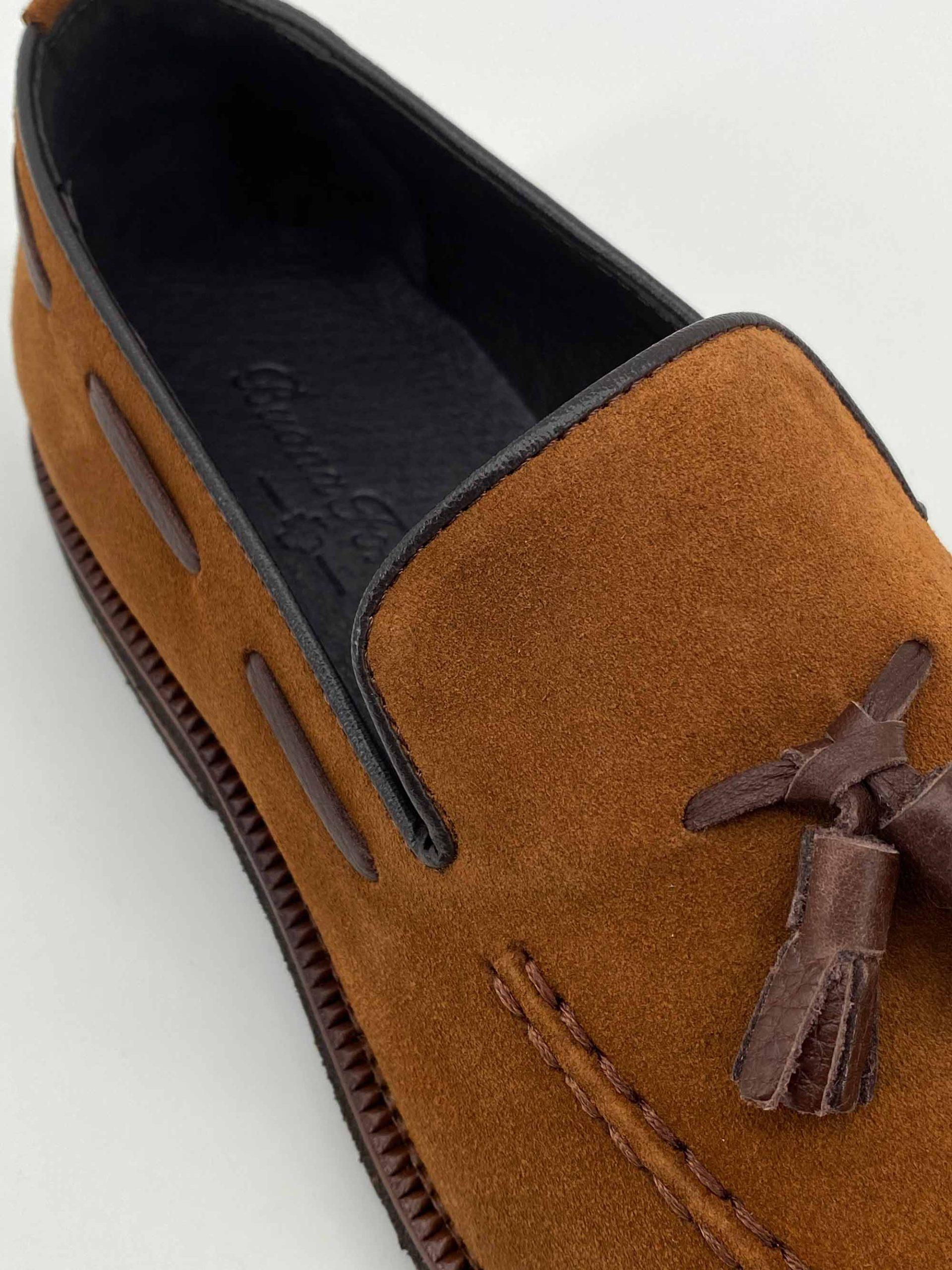zapatos piel buona fortuna zapatos exclusivos comprar online moda italiana-shop marrones mocasin serraje borla