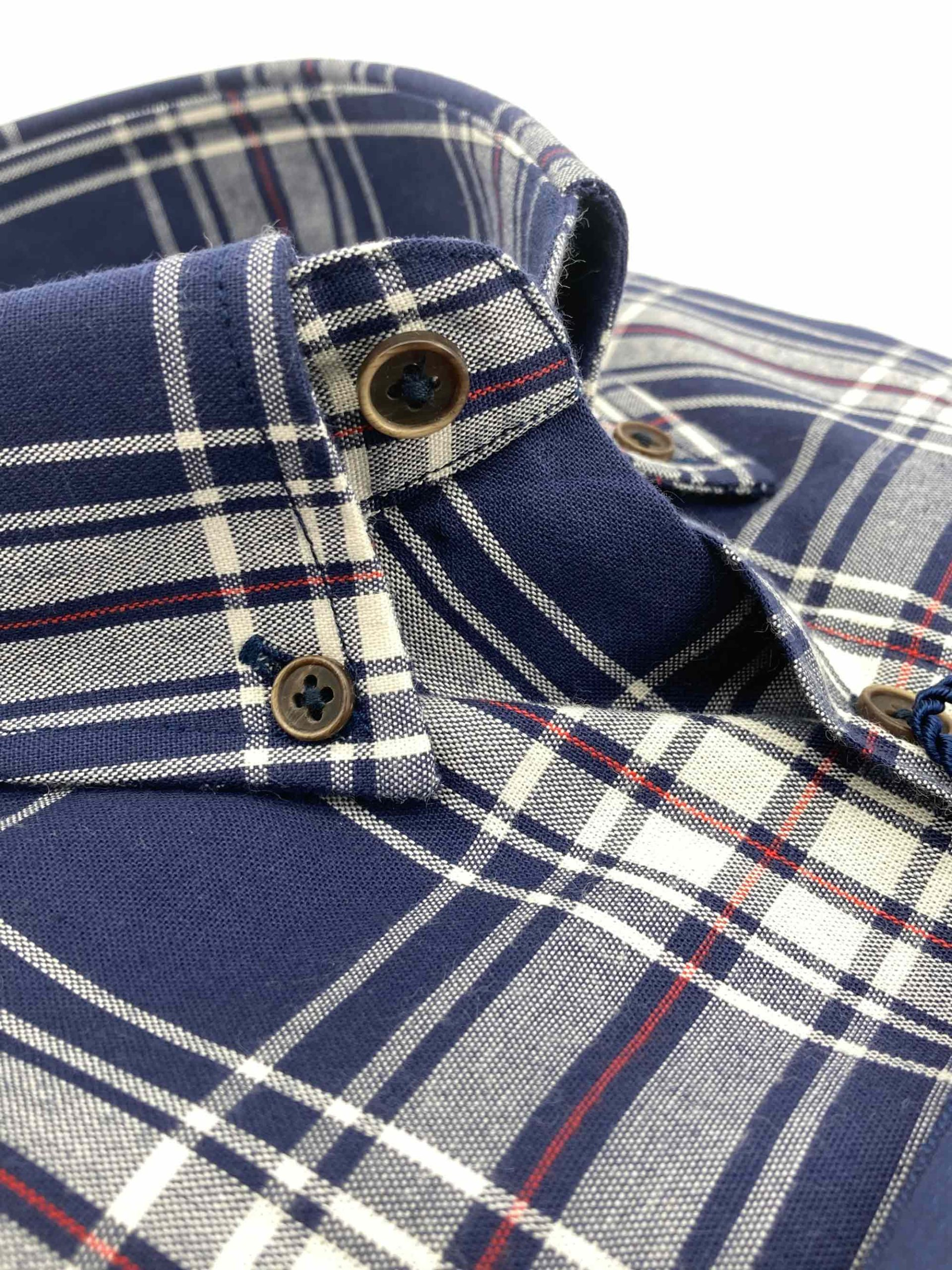 camisas buona fortuna comprar online camisas italianas exlusivas cuadros marino crudo y rojo