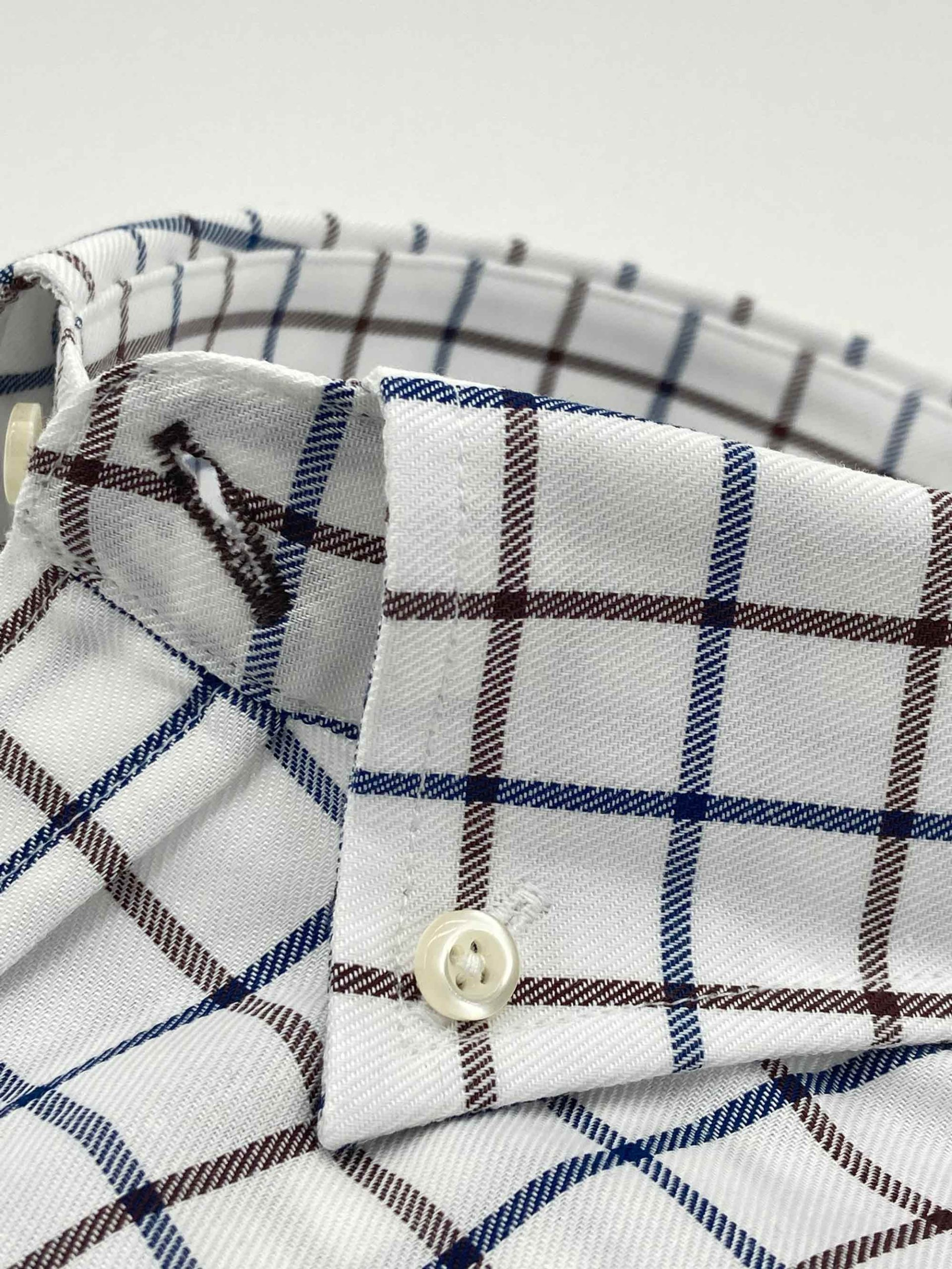 camisas buona fortuna comprar online camisas italianas exlusivas cuadros marrones azules fondo beige