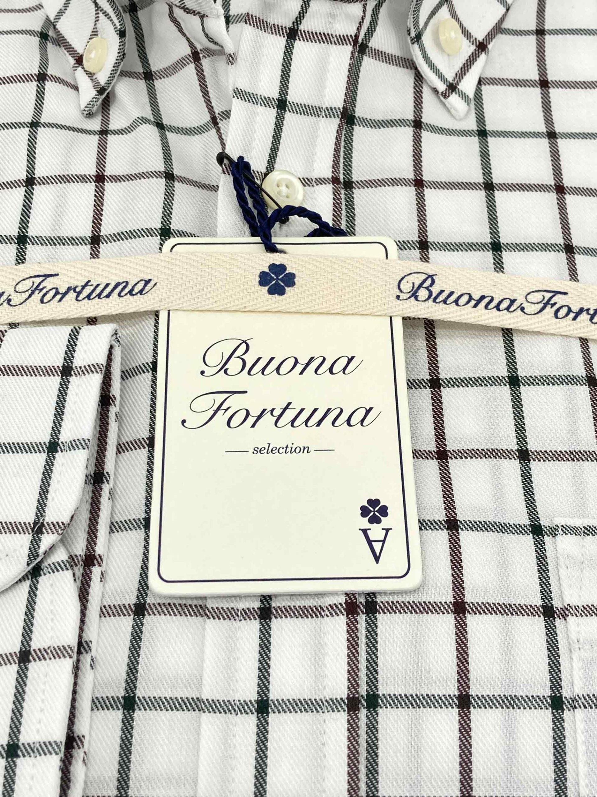 camisas buona fortuna comprar online camisas italianas exlusivas cuadros marrones verdes fondo beige