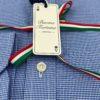 camisas buona fortuna comprar online camisas italianas exlusivas micro pata de gallo azul